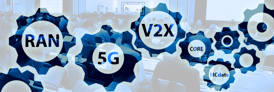3GPP concepts like RAN and 5G over an image of participants reviewing specifications