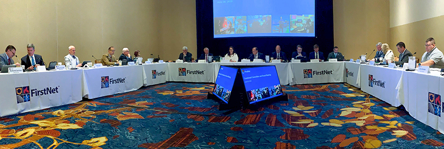 FirstNet Board meets in Indianapolis, Indiana for its June 2019 board meeting.