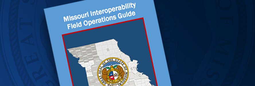 Missouri Field Operations Guide cover with Missouri state outline and Missouri state seal overlaid.