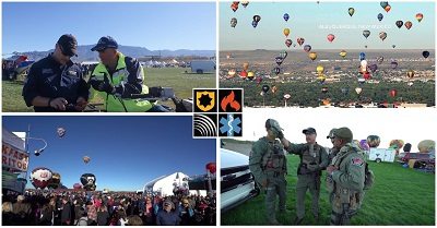 "First responders take advantage of FirstNet's dedicated and ""always on"" connection at the International Balloon Fiesta in Albuquerque, NM."