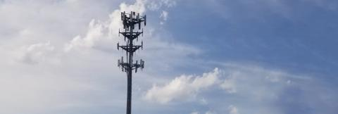 A cell tower