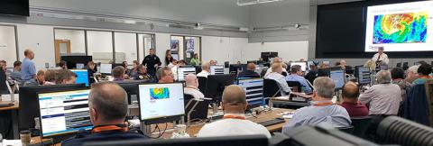 Chesapeake EOC responding to a hurricane