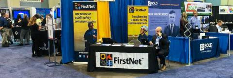 FirstNet Authority staff at FirstNet booth at International Association of Emergency Managers annual conference.
