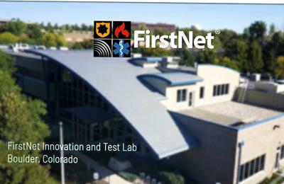 Aerial view of the building that houses the FirstNet AuthorityLab and future Experience Center in Boulder, CO.